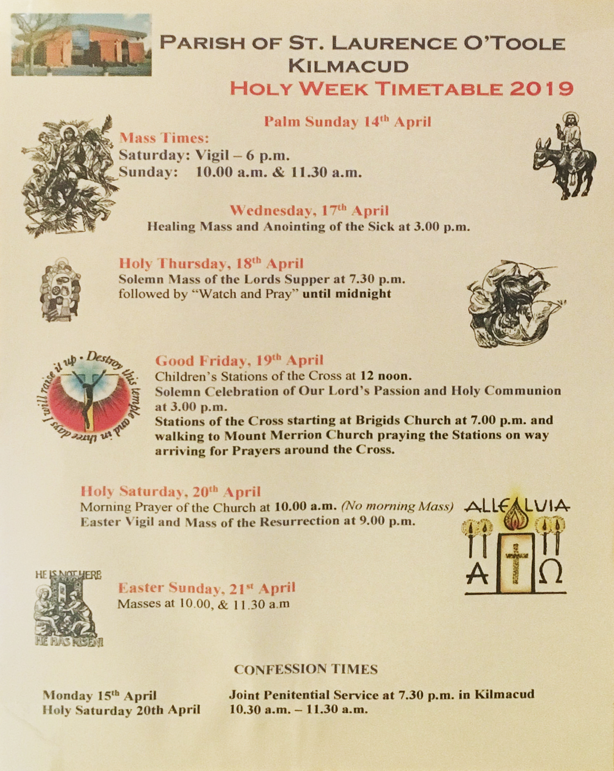 Kilmacud Parish: Holy Week