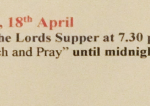 Watch And Pray Holy Thursday Night in Kilmacud Parish