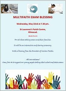 Multifaith Exam Blessing Kilmacud Parish