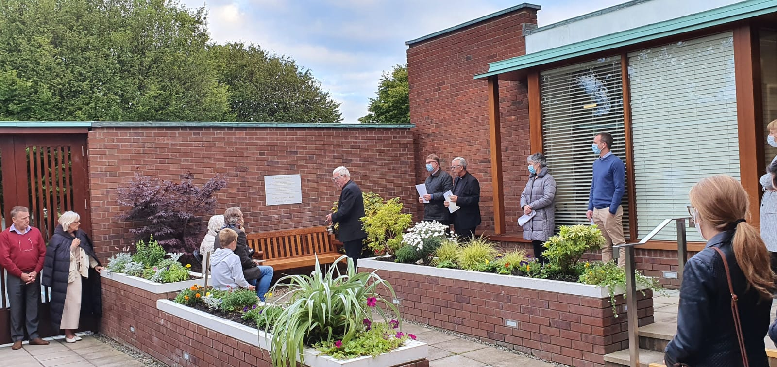 Blessing of Fr. Tony's memorial