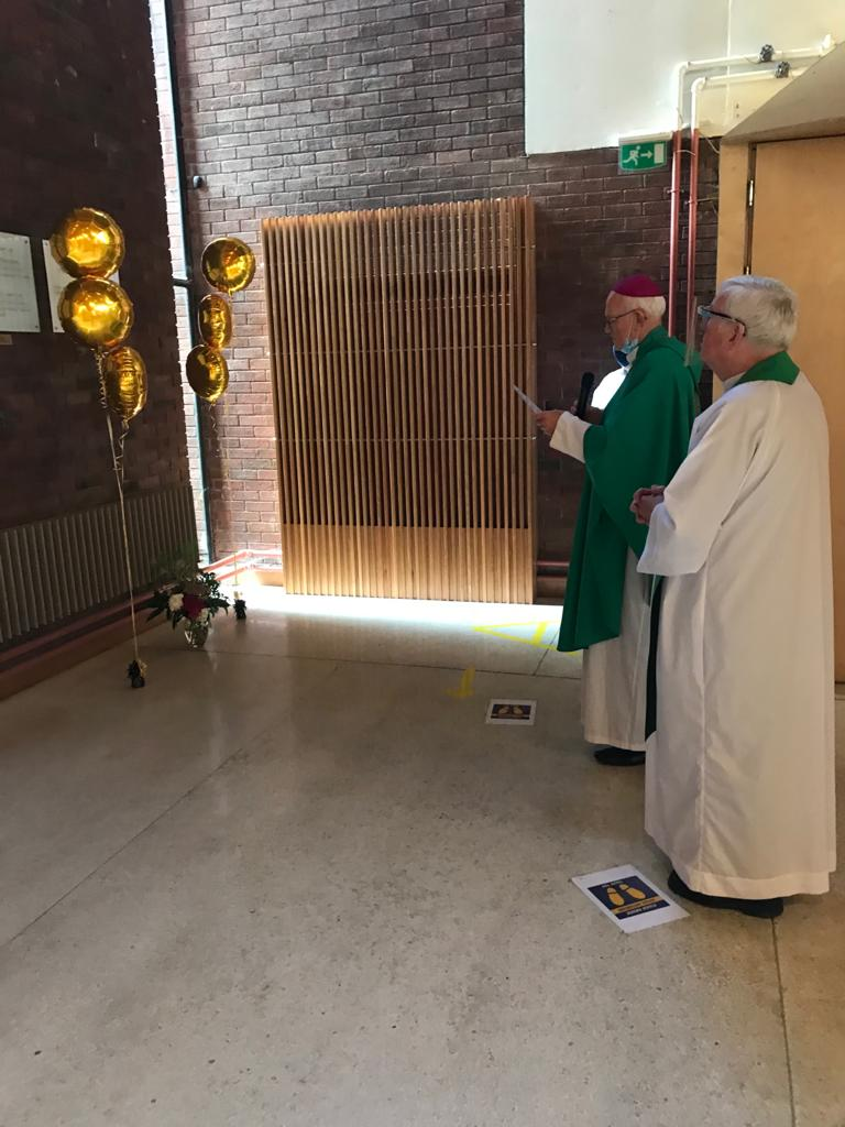 Blessing of Fr Tony's plaque